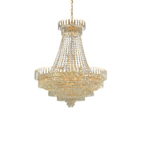 Signature 24 Light 58 inch Gold Chandelier Ceiling Light in Clear Crystal (CL), Hand Cut, Gold (GD)
