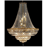 Crystorama 1423-GD-CL-MWP Signature 24 Light 60 inch Gold Chandelier Ceiling Light