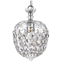 Crystorama Signature 1 Light Pendant in Polished Chrome, Clear Crystal, Hand Cut 143-CH-CL-MWP