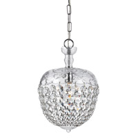 Crystorama Celia 1 Light Pendant in Polished Chrome with Hand Cut Crystals 145-CH-CL-MWP