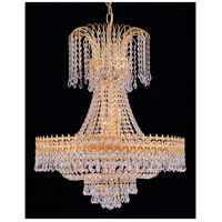 Crystorama 1471-GD-CL-MWP Traditional Crystal 9 Light 29 inch Gold Chandelier Ceiling Light