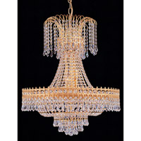 Crystorama Majestic Chandelier in Gold with Swarovski Spectra Crystals 1472-GD-CL-SAQ