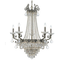 Crystorama 1486-HB-CL-MWP Majestic 13 Light 33 inch Historic Brass Chandelier Ceiling Light in Clear Hand Cut