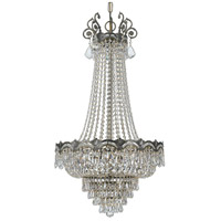 Crystorama 1487-HB-CL-S Majestic 8 Light 21 inch Historic Brass Chandelier Ceiling Light in 5, Clear Swarovski Strass