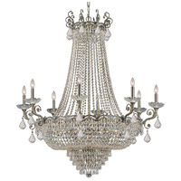Crystorama 1488-HB-CL-SAQ Majestic 20 Light 46 inch Historic Brass Chandelier Ceiling Light in Swarovski Spectra (SAQ)