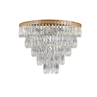 Crystorama Lighting European Classic 4 Light Flush Mount in Olde Brass & Hand Cut Clear Crystal 1514-OB-CL-MWP