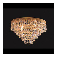 Crystorama Lighting European Classic 4 Light Flush Mount in Olde Brass & Swarovski Spectra - Clear 1514-OB-CL-SAQ photo thumbnail