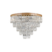 Crystorama European Classic 5 Light Flush Mount in Olde Brass with Hand Cut Clear Crystals 1518-OB-CL-MWP