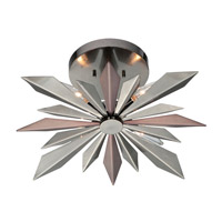 Galaxy 4 Light 17 inch Midnight Chrome Semi Flush Mount Ceiling Light in Midnight Chrome (MC)