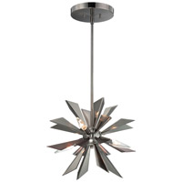 Crystorama Galaxy 4 Light Mini Chandelier in Midnight Chrome 1525-MC
