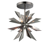 Crystorama Lighting Galaxy 4 Light Chandelier in Midnight Chrome 1525-MC_CEILING