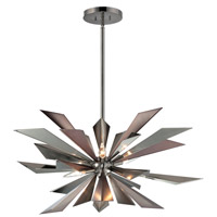 Crystorama Galaxy 7 Light Chandelier in Midnight Chrome 1529-MC