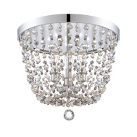 Crystorama Channing 3 Light Flush Mount in Polished Chrome 1540-CH-MWP