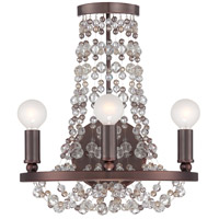 Crystorama Channing 3 Light Wall Sconce in Chocolate Bronze 1542-CB-MWP
