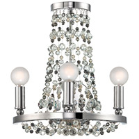 Crystorama Channing 3 Light Wall Sconce in Polished Chrome with Hand Cut Crystals 1542-CH-MWP