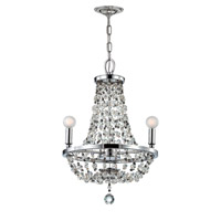 Crystorama Channing 3 Light Mini Chandelier in Polished Chrome with Hand Cut Crystals 1543-CH-MWP