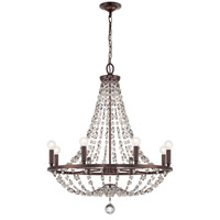 Crystorama Channing 8 Light Chandelier in Chocolate Bronze with Hand Cut Crystals 1548-CB-MWP