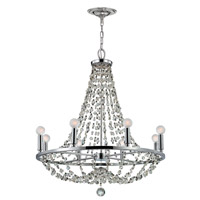 Crystorama Channing 8 Light Chandelier in Polished Chrome with Hand Cut Crystals 1548-CH-MWP