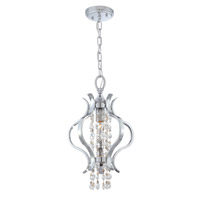 Crystorama Flow 1 Light Mini Chandelier in Chrome, Swarovski Elements 1570-CH-S
