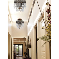 Crystorama Alhambra 2 Light Semi-Flush Mount in Fiesta with Hand Polished Crystals 1590-FA