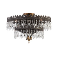 Crystorama Alhambra 5 Light Semi-Flush Mount in Fiesta with Hand Polished Crystals 1595-FA