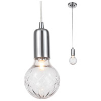 Crystorama 200-CH Essex 1 Light 4 inch Polished Chrome Pendant Ceiling Light