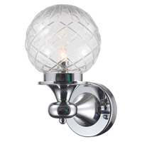 Crystorama Essex 1 Light Vanity Light in Polished Chrome 201-CH