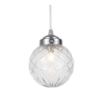 Crystorama 206-CH Essex 1 Light 6 inch Polished Chrome Pendant Ceiling Light
