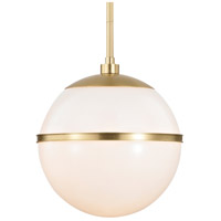 Crystorama 2112-AG Truax 1 Light 12 inch Aged Brass Pendant Ceiling Light