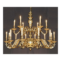 Crystorama European Classic 18 Light Chandelier in Olde Brass 2175-OB