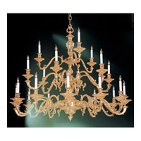 Crystorama European Classic 21 Light Chandelier in Olde Brass 2178-OB