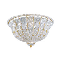 Crystorama Signature 3 Light Flush Mount in Burnished Gold with Hand Cut Crystals 218-BG-CL