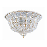 Crystorama Lighting Signature 4 Light Flush Mount in Burnished Gold & Clear 220-BG-CL photo thumbnail