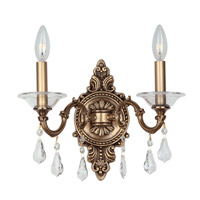 Crystorama Delancey 2 Light Wall Sconce in Roman Bronze 2222-RB-CL-MWP