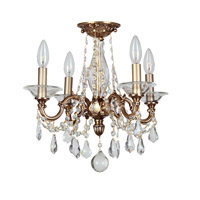 Crystorama Delancey 4 Light Semi-Flush Mount in Roman Bronze 2225-RB-CL-MWP