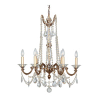 Crystorama Delancey 6 Light Chandelier in Roman Bronze, Clear Crystal, Hand Cut 2226-RB-CL-MWP