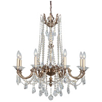 Delancey 8 Light 30 inch Roman Bronze Chandelier Ceiling Light in Clear Crystal (CL), Hand Cut, Roman Bronze (RB)