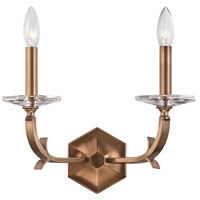 Hugo 2 Light 14 inch Roman Bronze Wall Sconce Wall Light