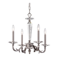 Crystorama Hugo 4 Light Chandelier in Pewter 2234-PW