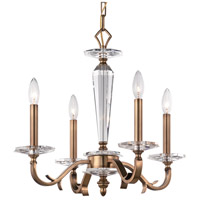 Crystorama Hugo 4 Light Chandelier in Roman Bronze 2234-RB