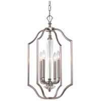 Crystorama Hugo 4 Light Pendant in Pewter 2235-PW