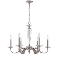 Crystorama Hugo 6 Light Chandelier in Pewter 2236-PW