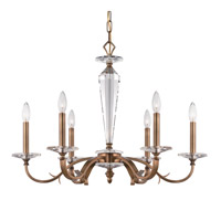 Crystorama Hugo 6 Light Chandelier in Roman Bronze 2236-RB