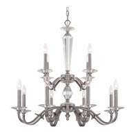 Crystorama Hugo 12 Light Chandelier in Pewter 2239-PW