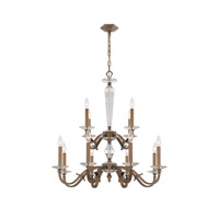 Crystorama Hugo 12 Light Chandelier in Roman Bronze 2239-RB