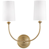 Crystorama 2242-VG Sylvan 2 Light 16 inch Vibrant Gold Wall Mount Wall Light
