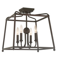 Crystorama 2243-DB_NOSHADE Sylvan 4 Light 16 inch Dark Bronze Ceiling Mount Ceiling Light in Dark Bronze (DB), No Shade