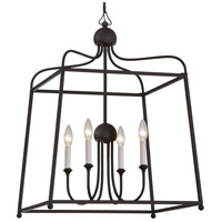 Crystorama 2244-DB_NOSHADE Sylvan 4 Light 22 inch Dark Bronze Chandelier Ceiling Light in Dark Bronze (DB), No Shade