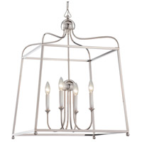 Crystorama 2244-PN_NOSHADE Sylvan 4 Light 22 inch Polished Nickel Chandelier Ceiling Light in Polished Nickel (PN), No Shade