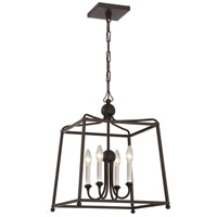 Crystorama 2245-DB_NOSHADE Sylvan 4 Light 16 inch Dark Bronze Chandelier Ceiling Light in Dark Bronze (DB) No Shade